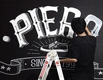 PIERO Hand Lettering Mural
