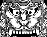 Máscaras - Linoleográficas - Linographic Maks
