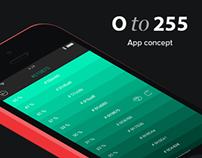 0to255 - Application Concept