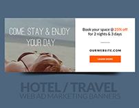 Hotel / Travel Web Ad Marketing Banners Vol 1
