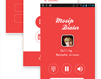 New UI Design for  Mosip Dialer Mobile application
