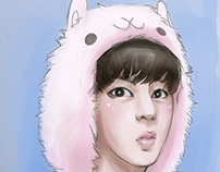 Jin of BTS fan art