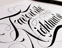 Lettering sketches.