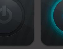 Dark Power On/Off Icons