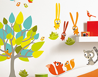 Caselio - Trendy 2 Wall Stickers Collection - Kids