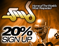 Banner: 20% Sign Up
