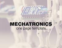 Mechatronics - one Page Template