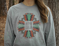 Pine Tree / Aztec Pattern Shirt