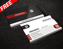 Red Corporate Business Card Template (FREE)