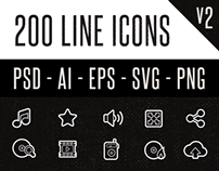 200 Line Icons (v2)