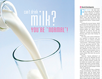 Lactose Intolerance article design