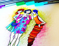 Gossip Girls (Hand-drawn Illustrations)