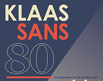 Poster - Klaas Sans