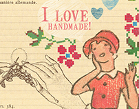 I LOVE HANDMADE. A Collection of cards.