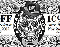 Ozzie Dots Halloween/Day of the Dead 2014