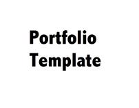 Portfolio Template (for students)