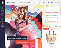 ParisKapriz - eCommerce website, Icon design