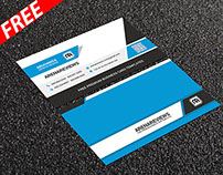 Clean Corporate Business Card Template (FREE)