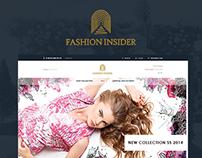 Fashion insider - eCommerce website, Logo, Branding