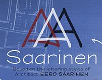 Eero Saarinen Lettering Font