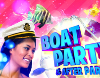 Curacao Spring Break - Boat Party Flyer
