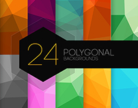 24 Polygonal Backgrounds