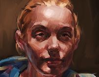 Digital Painting Demo: Portrait of K.