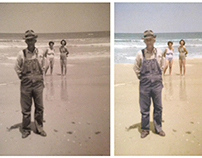 Restoration and colorisation of photograph