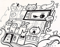 Doodle Monsters Art