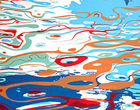 Blue Lake Screen print.