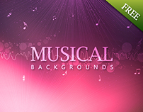 Free Download 02 Abstract Musical Backgrounds