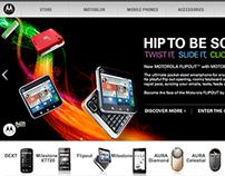 Motorola website graphics