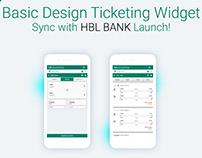 Ticketing Widget Sync With HBL