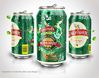 Kingfisher Octoberfest Beer can design