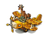 Giraffa and Giraffe Biplan for Oasis game