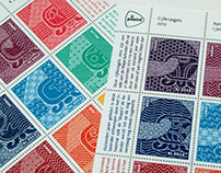 Dutch post stamps