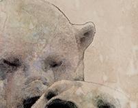 Ours polaires à l'aquarelle numérique