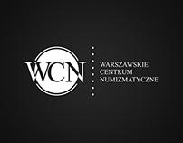 Logotyp konkursowy Warszawskie Centrum Numizmatyczne