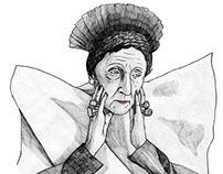 Portraits of fashion's granny for Fineartshop