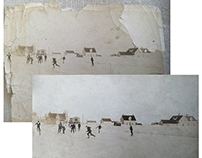 Restoration & colorisation, ice hockey, Canada c. 1920