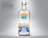 Bottle label design - Absolut India (Absolut Vodka)