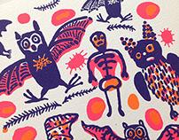 Bat's Feast / Halloween card