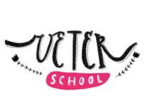 Veter School. Lettering.
