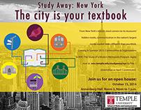 Temple University NY Study Away Ad