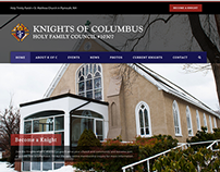 Knights of Columbus Website and Business Cards