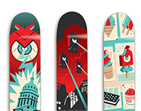 Chaotic Moon Skate Decks