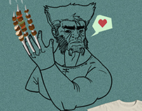 wolverine loves barbecue