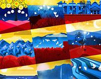 Art with the flag of Venezuela