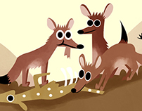 Wildlife Week Illustrated Web Banner for Nat Geo