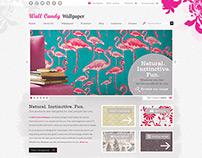 Ecommerce UI for an online wallpaper retailer